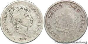 S5606 Rare Italy Naples et Deux-Siciles Murat 1 Lire 1812 Naples - Faire Offre