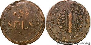 S5658 Rare Convention 5 Sols Siege de Mayence 1793 An 2 - Faire Offre