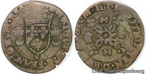 S5698 Rare Fauté Douzain Croissant Date inversé 1552 (2 inversé)