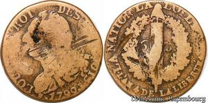 S5719 Contitution 6 Deniers Louis XVI François 1792 I Limoges - Faire Offre