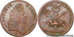 S5881 Jeton Valenciennes Prise Condé Sur L'Escaut Louis XIV 1676 ->Faire Offre