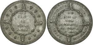 O8108 Médaille Etat de siège misère 1848 Tête de mort ->M offre