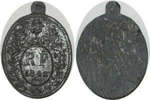 O8113 Rare Médaille Révolution 1848 Lamartine Triomphe liberté FDC