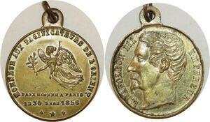 O8157 Médaille Napoléon III traité Paix France Russia guerre Crimée 1856