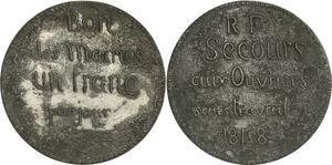 O8265 Rare médaille Bon des mairies Franc jour Secous Ouvriers 1848