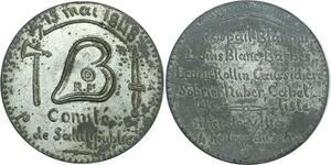 O8266 Rare médaille Comité Salut Public 1848 Raspail Blanquet Barbès SUP