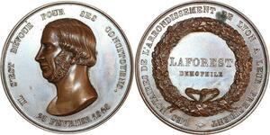 O8300 Rare Médaille Notaires Arrondt. Lyon Ami du Peuple demophile SPL