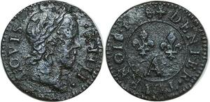 O8517 Denier Tournois Louis XIV 1648 ->Make offer