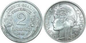 O8730 2 Francs Morlon 1941 SPL !!! ->Make offer