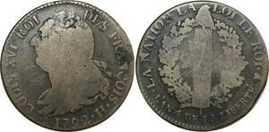 O9010 Constitution 2 Sols Louis XVI François an 4 1792 H La rochelle ->M offre