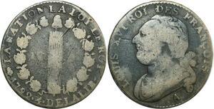 O9056 Constitution 12 Deniers Louis XVI François an 4/3 1792 A Paris ->M offre