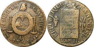 O9186 Convention Un Sol aux balances Françoise An II 1793 AA Metz ->M offre