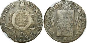O9187 Rare Convention Un sol aux balances Françoise An II 1793 D. Dijon