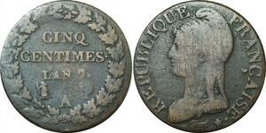 O9344 Directoire 5 Centimes dupré an 7 A Paris ->Make offer