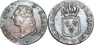 O9548 Sol Louis XVI 1791 W Lille 2nd sem Qualité !!! TTB ->Make offer