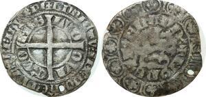 O9694 Flandres Louis of Male 1346-1348 gros au lion Gand LVD OVI Cx' CO MES