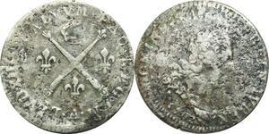 O9722 Année Inédite 10 Sols aux insignes Louis XIV 1702 A Paris Argent