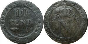 O9760 10 Centimes Napoléon I 1810 I Limoges ->Make offer