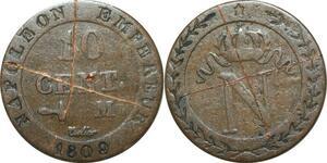 O9838 Faux d'époque 10 Centimes Napoléon I 1809 M Toulouse ->Make offer