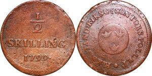 O9944 Sweden 1/2 Skilling Riksgälds Gustav IV Adolf 1799 KM# 549 -> Make offer