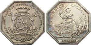 O4097 Rare Jeton Joseph Seurrat de GuilleVille Orléans 1780 Argent Silver SUP