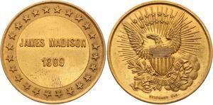 O4117 Scarce Module USA James Madison 1809 US President Brichaut UNC->M offer