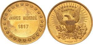 O4118 Scarce Module USA James Monroe 1817 US President Brichaut UNC->Make offer