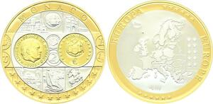 O4165 Medaille Europa Monaco Argent 999% BE Proof PF ->M offre