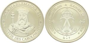 O4180 Medaille Rois et Reines France Charlemagne 768 814 Proof PF BE ->M offre