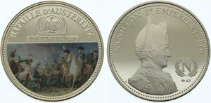 O4296 Medaille France Napoléon Empereur Bataille Austerlitz 1805 BE Proof