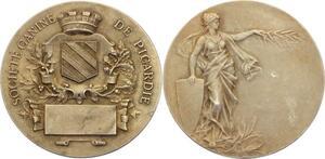 O4448 Medaille Société Canine Picardie Silvered ->Make offer