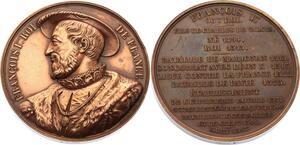O4482 Medaille François Auguste Barré Marignan Roi Caqué 1836 ->Make offer