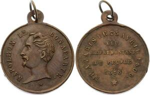 O4500 Medaille Napoléon Bonaparte Représentant peuple 1848 ->Make offer