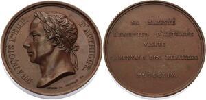 O4529 Medaille François Ier Empereur Autriche visite Monnaie des Medailles 1814