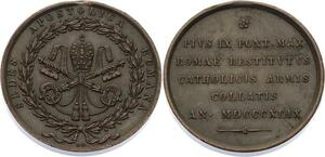 O4540 Medaglia Vatican Pie IX Merit Austrian troops Papal State 1849