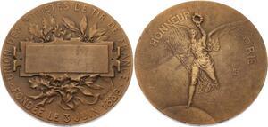 O4545 Medaille Honneur Patrie Union Société Tir France 1886 Lenoir ->Make offer