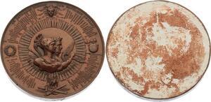 O4558 Medaille Uniface Napoléon 89 Batailles Gagnées 1840
