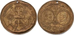 O4569 Rare Medaille Alliance Franco-Russe Cronstadt Toulon 1891 1893 ->FO