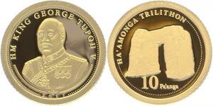 O4992 Tonga 10 Paanga George Tupou 2011 Or Gold 999% BE PF Proof ->Make offer