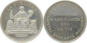 O5045 Medaille Assurance La Foncière Capital 40 Millons Argent ->M offre