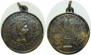 O5075 Medaille Napoléon Souvenir Immortel 1840 Marengo Iena Eylau Wagram