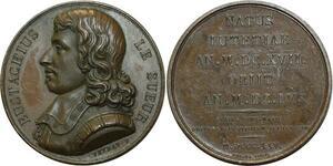 O5083 Rare Medaille Eustache Le Sueur 1616 1655 Veyrat 1825 MONARCHII Tr