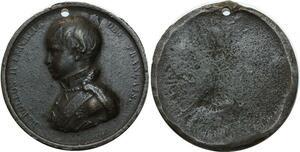 O5089 Rare Medaille Uniface Napoleon II 1811-1832 Caqué 1834 ->Make offer