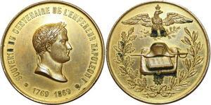 O5092 Medaille Souvenir 100 ans naissance Napoleon Empereur 1769 1869 SUP