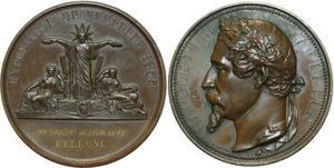 O5106 Rare Medaille Napoleon III Exposition Universelle Paris 1855 Belloni SUP