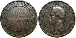 O5181 Module 10 Centimes Napoleon III 1853 Visite Lille 23 24 Sept Barre