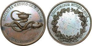 O5211 Rare Medaille Medecine Societé Chirurgie Caqué Baron desnoyers SPL