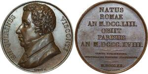 O5279 Medaille Ennio Quirino Visconti 1751 1818 antiquarian Baron desnoyers SPL