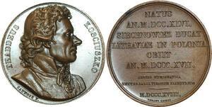 O5286 Scarce Medal Tadeusz Kościuszko Poland USA War 1818 Baron desnoyers SPL