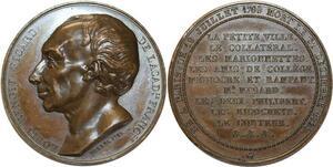 O5358 Rare Medaille Louis Benoit Picard Borrel 1832 Baron desnoyers SPL